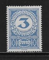 AUTRICHE  ( AUTR - 560 ) 1917  N° YVERT ET TELLIER   N° 87   N** - Strafport