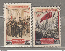 RUSSIA 1953 October Revolution Used (o) Mi 1679-1680 #24989 - Gebraucht