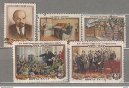 RUSSIA 1954 Lenin Used (o) Mi 1696-1700 #24999 - Gebraucht