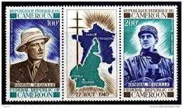 Cameroun  PA N° 164A  XX  Général De Gaulle, Le Triptyque Sans Charnière TB - Kamerun (1960-...)