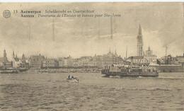 Antwerpen - Anvers - Scheldezicht En Overzetboot - Panorama De L'Escaut Et Bateau Pour Ste-Anne - Albert No 13 - 1932 - Antwerpen