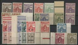 TUNISIE TIMBRES TAXE N° 42 à 44 + 46 0 50 + 52 + 54 à 58 + 59 à 64. Cote 23 € NEUFS ** (MNH) - Strafport
