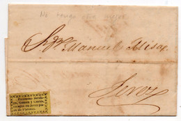 Cosario Letter From Cadiz To Jerez - ...-1850 Voorfilatelie