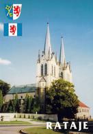 1 AK Tschechien * Kirche St. Peter Und Paul In Rataje (deutsch Rattay) Mit Wappen - Erbaut Von 1881 Bis 1898 * - Czech Republic