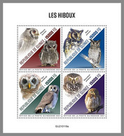 GUINEA REP. 2021 MNH Owls Eulen Hiboux M/S - OFFICIAL ISSUE - DHQ2117 - Owls