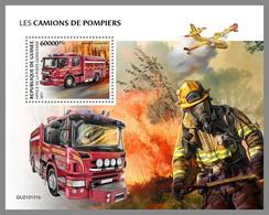 GUINEA REP. 2021 MNH Fire Engines Feuerwehr Fahrzeuge Camions De Pompiers S/S - OFFICIAL ISSUE - DHQ2117 - Bombero