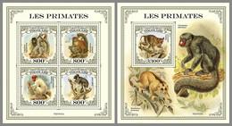 TOGO 2021 MNH Primates Monkeys Affen Primanten Singes M/S+S/S - OFFICIAL ISSUE - DHQ2117 - Mono
