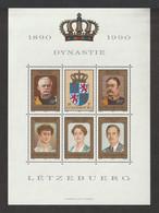 LUXEMBOURG 1990 Centenary Of The Nassau-Weilburg Dynasty: Miniature Sheet UM/MNH - Blocks & Kleinbögen