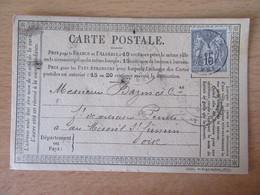 France - Timbre Sage 15c Sur Précurseur Vers Le Mesnil St Firmin - Oblitéré CàD Abbeville 1878 - 1877-1920: Période Semi Moderne