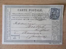 France - Timbre Sage 15c Sur Précurseur Vers Amiens - Oblitéré CàD Paris Rue Turbigo 1877 - 1877-1920: Semi-Moderne