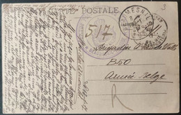 Belgie Armee Belge Legerpost Brigadier A. Vandewalle B50 18/01/1917 - Belgische Armee
