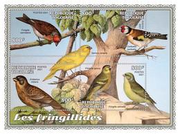 TOGO 2021 - Finches. Official Issue. [TG210145] - Sperlingsvögel & Singvögel