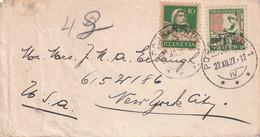 SUISSE  1927 LETTRE DE PORRENTRUY POUR NEW YORK - Covers & Documents
