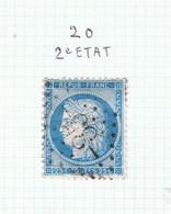 Variété Suarnet N°20 2éme état - 1871-1875 Ceres