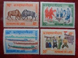 LAOS 1966 Y&T N° 123 à 126 ** - FOLKLORE - Laos