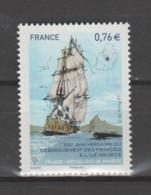 FRANCE / 2015 / Y&T N° 4979 ** : 300 Ans Du Débarquement Des Français à L'île Maurice X 1 - Unused Stamps