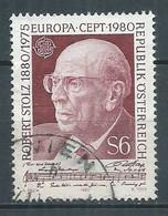 Autriche YT N°1481 Europa 1980 Robert Stolz Oblitéré ° - 1980