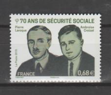 FRANCE / 2015 / Y&T N° 4981 ** : 70 Ans De La Sécurité Sociale (Pierre Laroque & Ambroise Croizat) X 1 - Unused Stamps