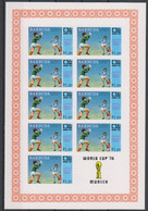 Soccer World Cup 1974 - BARBUDA - Sheet Imperf. MNH - 1974 – Alemania Occidental