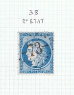 Variété Suarnet N°38 2ème état - 1871-1875 Ceres