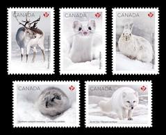 Canada 2021 Mih. 3867/71 Fauna. Snow Mammals. Ermine. Hare. Fox. Caribou. Lemmin (self-adhesive) MNH ** - Ungebraucht