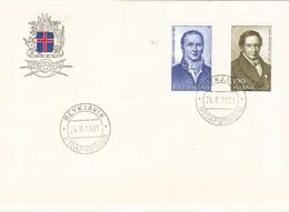Iceland Island 1981 Magnús Stephensen, President Of The Court, Finnur Magnússon,  Mi 563-564 FDC - Lettres & Documents