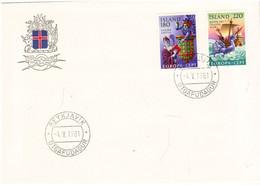 Iceland Island 1981 Europa: Folklore.,  Mi 565-566 FDC - Lettres & Documents