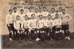 """CARTE-PHOTO De L'équipe De Rugby,du Lycée De PAU """"Les Coquelicots"""" 1904-05 (RARETE!!). - Pau"""