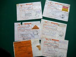 ITALIE 22 Bollettini Spedizione Paco Ordinario Con Assegno, Divers Affranchissements Et Oblitérations 1996 à 2000 - 1991-00: Oblitérés