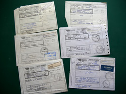 ITALIE 34 Bollettini Spedizione Paco Ordinario, Divers Affranchissements Et Oblitérations 1995 à 2000 - 1991-00: Oblitérés