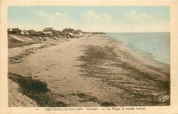 2 X Cpa 85 BRETIGNOLLES-SUR-MER. Plage Et Côte Rocheuse - Bretignolles Sur Mer