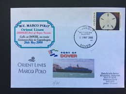 BAHAMAS 2000 Paquebot Cover Dover Postmark M.V. Marco Polo Orinet Lines - Bahamas (1973-...)