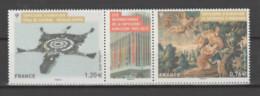 FRANCE / 2015 / Y&T N° 4999/5000 ** (en Fait, P4999/00 **) : Dyptique Tapisserie D'Aubusson (avec Vignette) X 1 - Unused Stamps