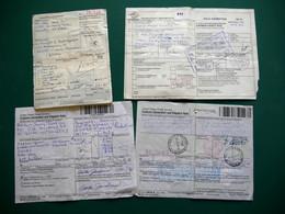 USA-ITALIE 6 Bulletins D'expédition De Colis Des USA Vers L'Italie, Divers Affranchissements Italiens 1995 à 1999 - 1991-00: Oblitérés