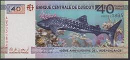 Djibouti 40 Francs 2017 P46 UNC - Djibouti