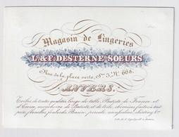 ANVERS   PORSELEINKAART  11 X 8 CM - MAGASIN DE LINGERIES L.& F.DESTERNE SOEURS - RUE DELA PLACE VERTE - Antwerpen