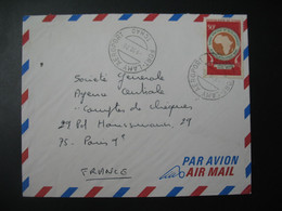 Tchad  1970 N° 215 Parti De Fort-Lamy Aéroport  Pour La Sté Générale En France  Bd Haussmann Paris - Chad (1960-...)