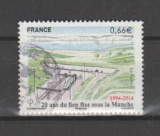 FRANCE / 2014 / Y&T N° 4861 : 20 Ans De Lien Fixe Sous La Manche - Choisi - Cachet Rond - Gebruikt