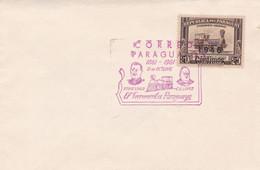 PARAGUAY. EL FERROCARRIL PARAGUAYO, STROESSNER C.A.LOPEZ. 1861-1961. SPC, ENVELOPPE.- LILHU - Trains