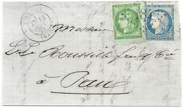 Basses Pyrénées - Arudy Pour Pau. Affranchissement De Septembre 1871 - 1849-1876: Classic Period