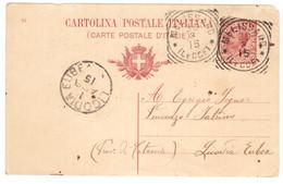 WQ311   Regno 1915  Annullo Tondo Riquadrato MELISSANO (Lecce) Su Cartolina Postale Per Licodia Eubea (Catania) - Marcophilia