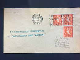 """GB 1961 Cover With `Commemorating Visit Of U.S. Coastguard Ship """"Yakutat""""` Cachet - Covers & Documents"""