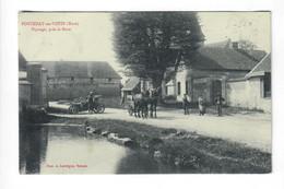 CPA 27 Fontenay En Vexin - Paysage Près La Mare - Animée : Vehicule Ancien, Attelage - Circulée - Other Municipalities