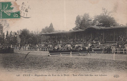 CPA - LILLE - Hippodrome Du Bois De La Deûle , Saut D'une Haie Face Aux Tribunes - Andere Gemeenten