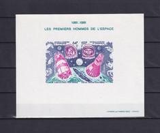 NEW CALEDONIA 1981, Mi# Bl 4, Imperf, Space, NG - Briefe U. Dokumente