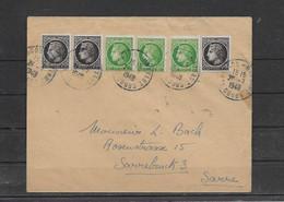 Timbres CERES De MAZELIN  Sur Lettre Pour La SARRE - 1945-47 Ceres De Mazelin