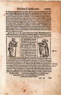 Feuille D'un Livre Du XVIe Siecle Dim, 30x20 - Old Books