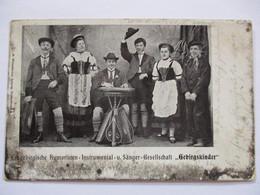 """Berge, Musik, Volksmusik, Zither """"Gebirgskinder"""" Aus Dem Erzgebirge 1905  - Otros"""
