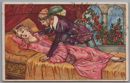 Dornröschen - Vorüber Sind Die 100 Jahr, Dass Dornröschen Verzaubert War ... Gelaufen Von Riesau - Fairy Tales, Popular Stories & Legends