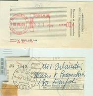 RICEVUTA MECCANIZZATA RACCOMANDATA 1965 - RICEVUTA MANUALE RACCOMANDATA 1958 -CON MARCHE ATTI GIUDIZIARI - RR - 1961-70: Marcophilia